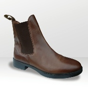 Brogini JB short riding boot in brown